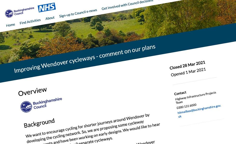 'screenshot of 'Buckinghamshire County Council, UK