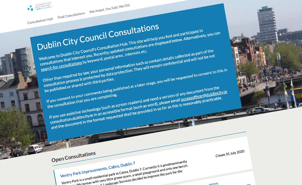 'screenshot of 'Dublin City Council, ROI