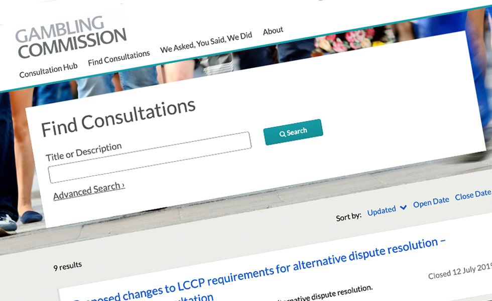 'screenshot of 'Gambling Commission, UK