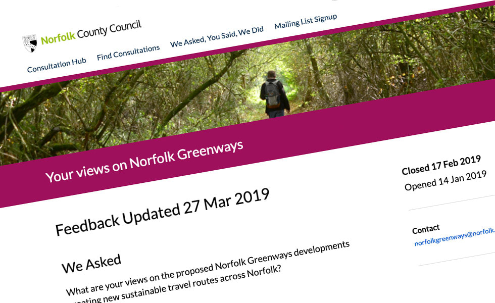 'screenshot of 'Norfolk County Council, UK