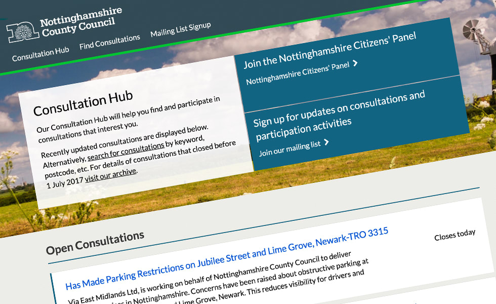 'screenshot of 'Nottinghamshire County Council, UK