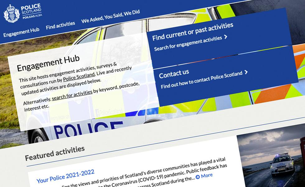 'screenshot of 'Police Scotland