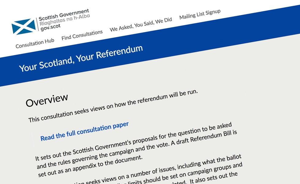 'screenshot of 'The Scottish Government