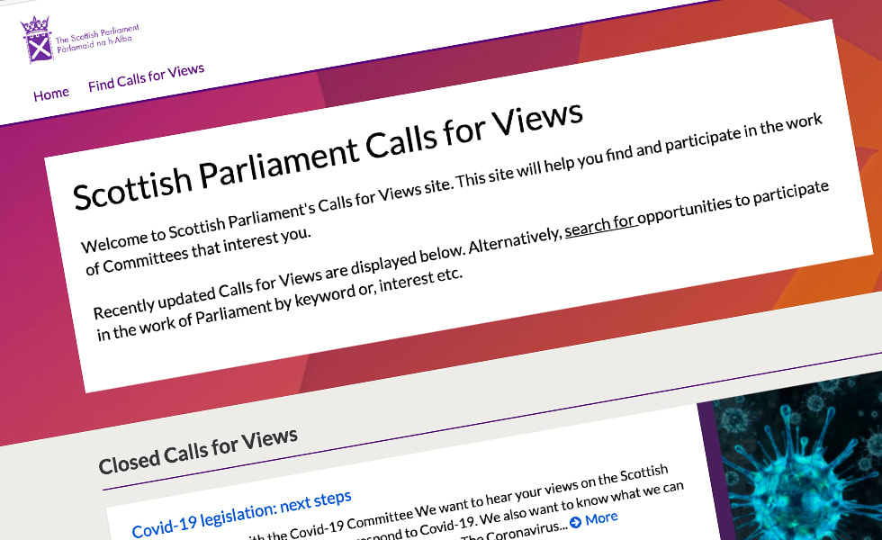 'screenshot of 'Scottish Parliament