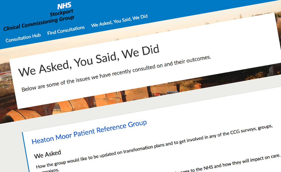 'screenshot of 'Stockport Clinical Commissioning Group, UK
