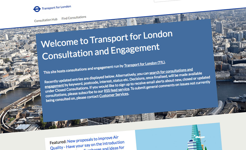 'screenshot of 'Transport for London