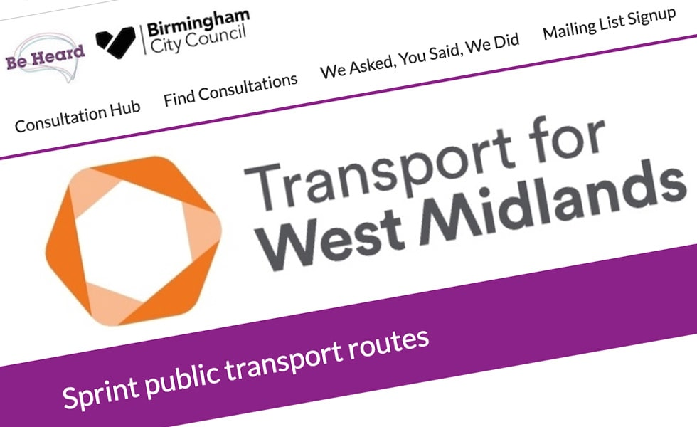 'screenshot of 'Transport for West Midlands, UK