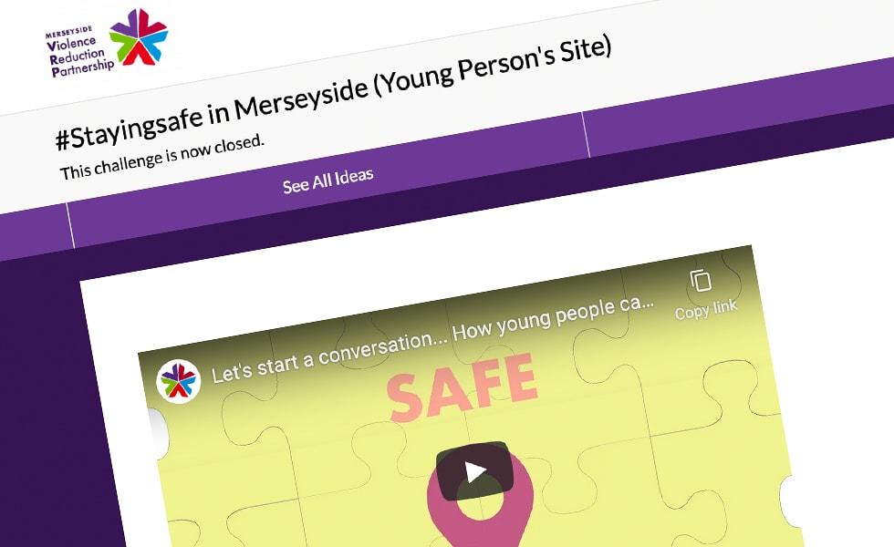 'screenshot of 'Merseyside Violence Reduction Partnership