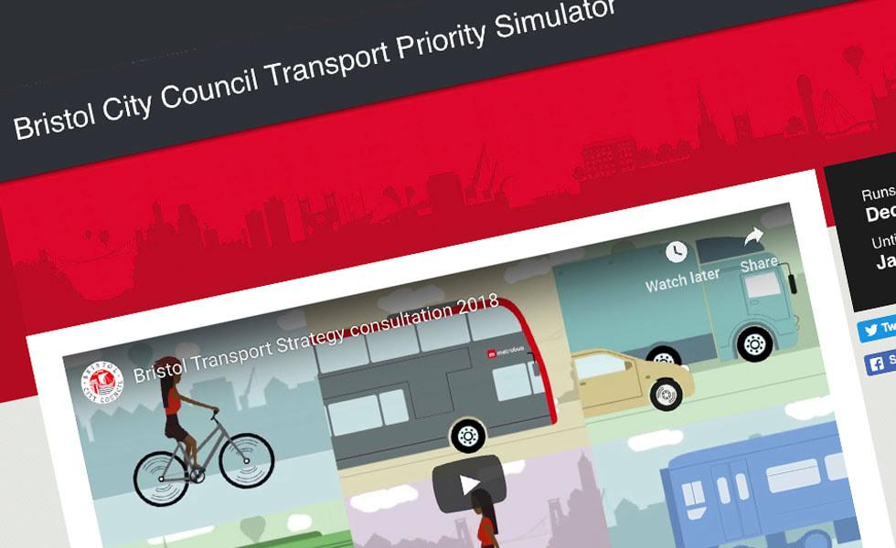 'screenshot of 'Bristol City Council
