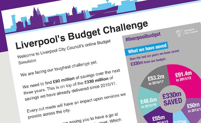 'screenshot of 'Liverpool City Council, UK