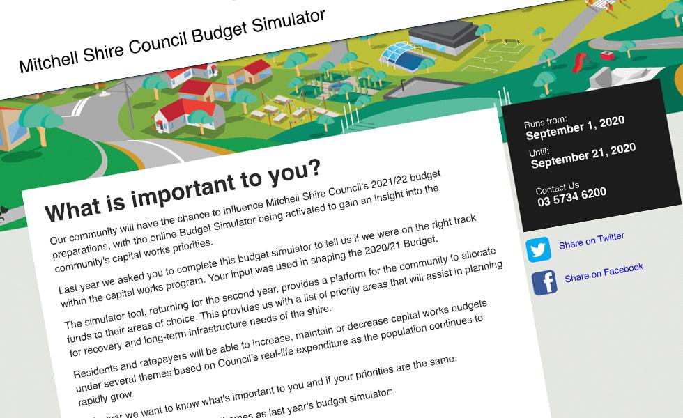 'screenshot of 'Mitchell Shire Council, Australia
