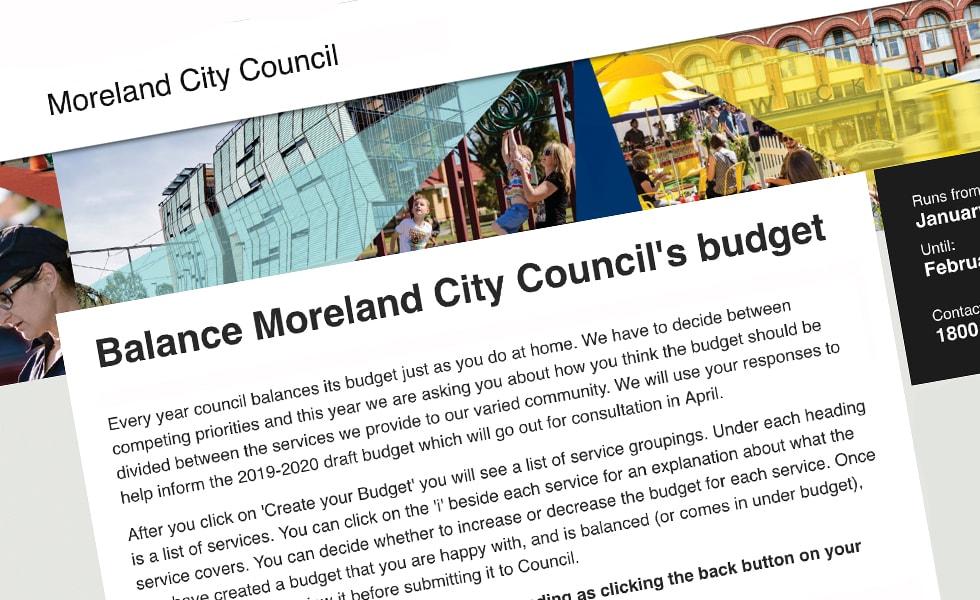 'screenshot of 'Moreland City Council, AU