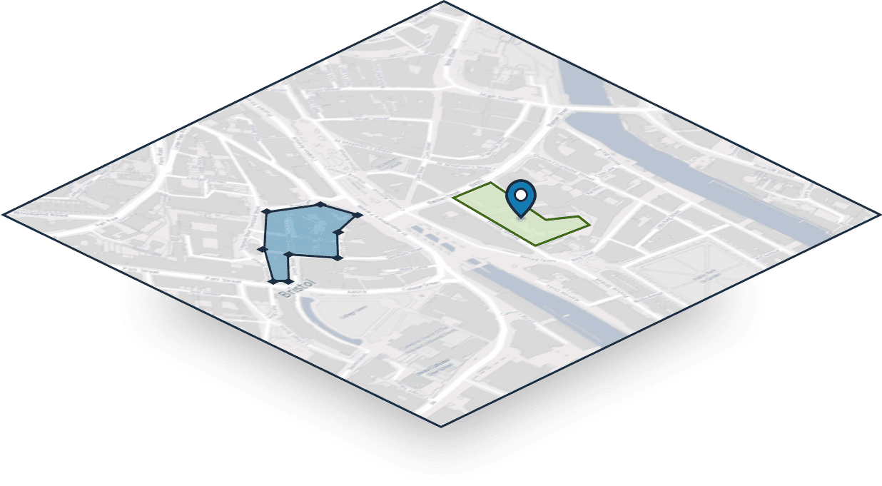 Map layer for people to respond by placing a polygon, line or pin.