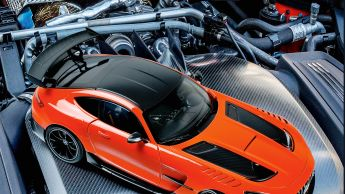 """Schwarze Seele: '20 Mercedes-AMG GT """"Black Series"""" von Norev in 1:18"""