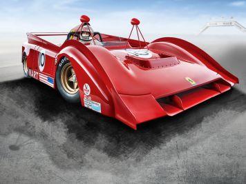 Yes! We Can-Am! '71-'74 Ferrari 712 Can-Am von Tecnomodel in 1:18
