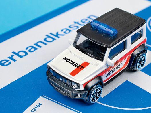 """Erste Hilfe: Suzuki Jimny """"Notarzt"""" von Majorette in 1:64"""