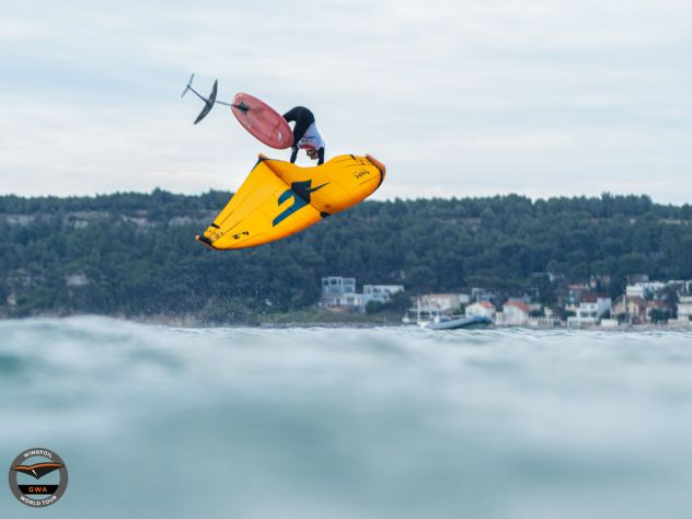 Endlich Action beim GWA Wingfoil World Cup Leucate