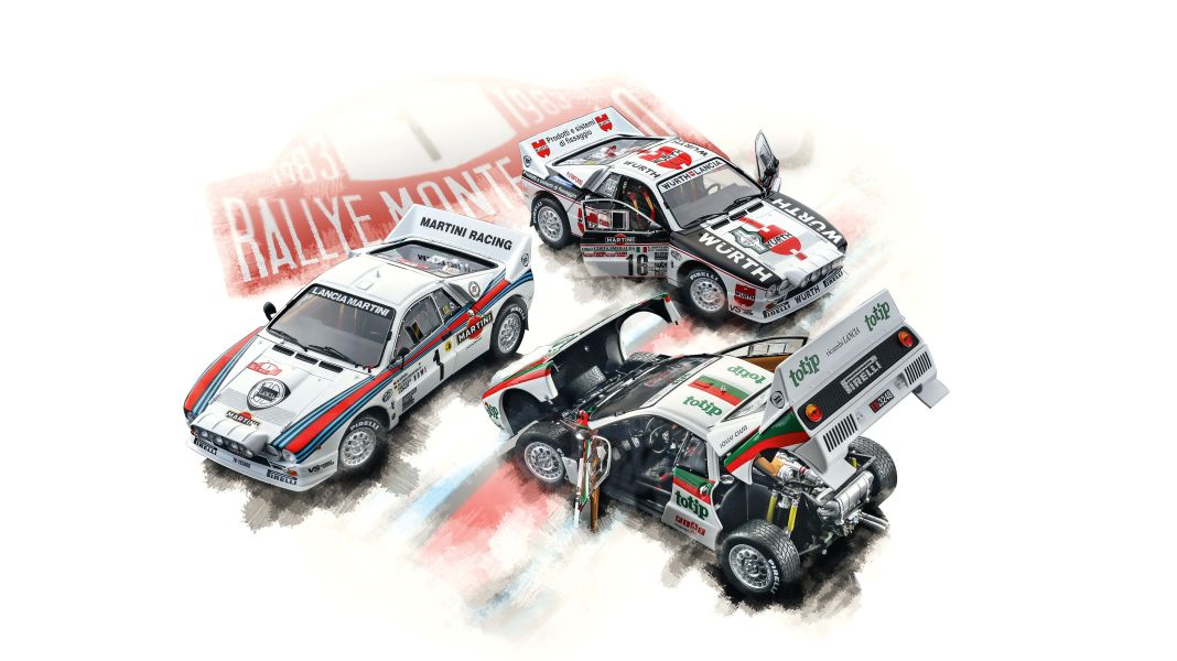 Der Ausbalancierte: '83 Lancia Rally 037 von Kyosho in 1:18