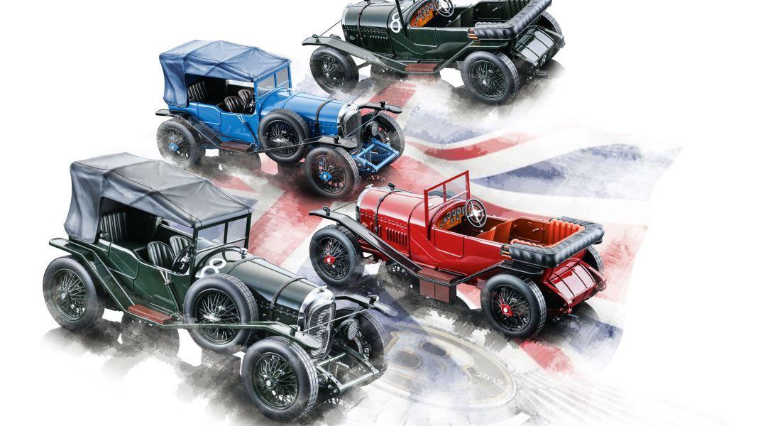 Bentley-Boomer: '24 Bentley 3 Litre von Tecnomodel in 1:18