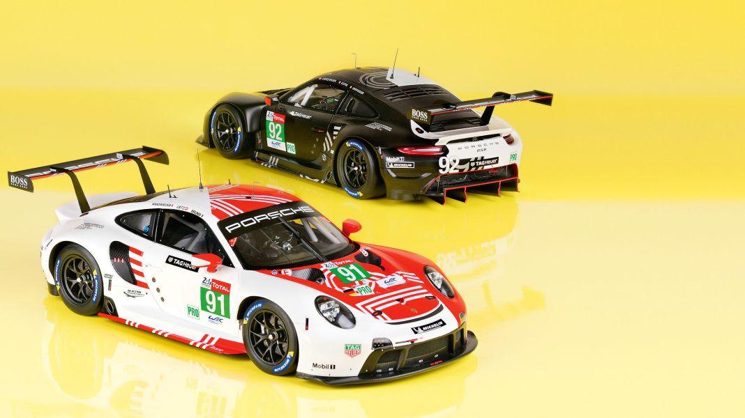 24-Stunden-Duo: Porsche 911 RSR LM 2020 von Minimax in 1:18