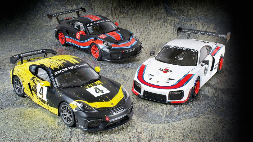 Zuffensausen-Trio: Drei neue Renn-Porsche in 1:18