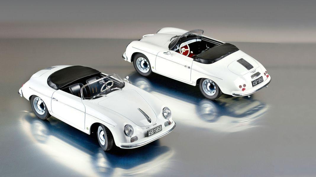 Weniger ist er: `54 Porsche 356 Speedster von Norev in 1:18