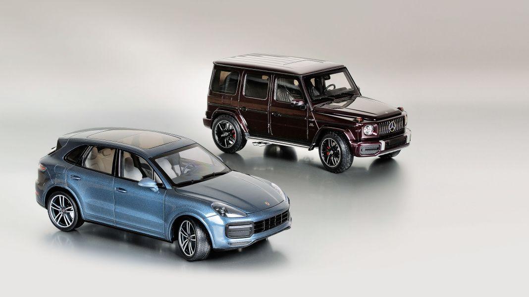 Hochinteressant: G63 und Cayenne Turbo S von Minichamps in 1:18