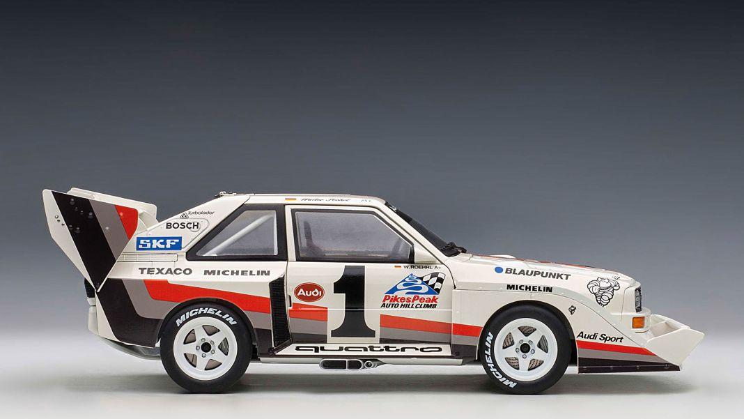 """Aufi geht's: '87 Audi E2 """"Pikes Peak"""" von Autoart in 1:18"""