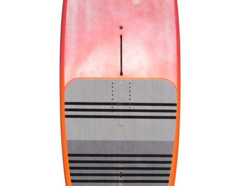 Slingshot Shred Sled mit breiter Square Nose und ein großflächigem Deckpad