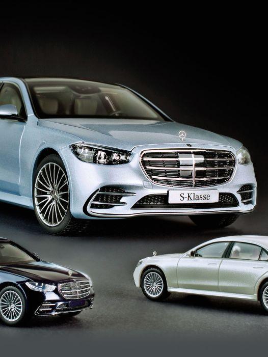 Siebengescheit: Neue Mercedes S-Klasse in 1:87, 1:43 und 1:18