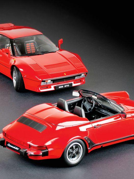 Porsche Speedster und Ferrari 288 GTO von KK Scale in 1:18: Zwei Rote, bitte!
