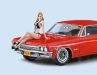 Hasegawa krönt seinen '66 Chevy Impala in 1:24 mit leicht bekleideter Dame