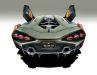 Das brutale Heck ist Lamborghini pur, und die typischen Türen hat die Sportwagenmarke ja inzwischen weltberühmt gemacht
