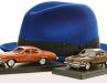 Der Hut von Kojak und sein Einsatzwagen Buick Century 455 gleich zweimal in 1:43