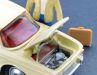 der hintere Kofferraum der antiquarischen Corgi-Verkleinerung