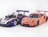 In beiden Maßstäben zeigen die bei Ixo in Bangladesch gefertigten Porsche-Rennboliden bis ins letzte Detail originalgetreu umgesetzte Dekos