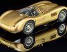 Sagenhaft und gülden schimmert das Techno-Classica-Sondermodell des Jaguar C-Type im Maßstab 1:18