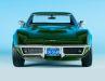 Was für ein Grün: Fathomgreen heißt die Farbe, in der Norev sein Coupé zur Corvette von 1969 lackiert hat