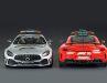 Minichamps liefert auch bei der 1:18-Verkleinerung beide Original- Farben des Mercedes- Pace-Cars von 2020 aus der F1