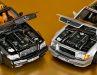 Den schwarzen Mercedes SL 500 von 1998 kann Norev in 1:18 dank cleverer Konstruktion dem silbernen Urmodell im Maßstab 1:18 folgen lassen