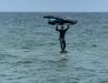 4. Passe deinen Kurs so an, dass du auf dem Wellenhang bleiben kannst