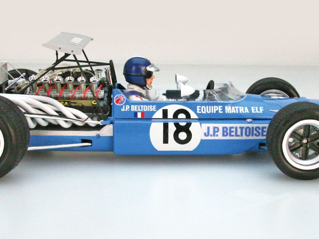 Erfolgreich war das Vorbild des 1:12-Bausatzes von Ebbro, der Matra MS11, in der F1 nicht, dafür galt der Monoposto aber als unüberhörbar laut