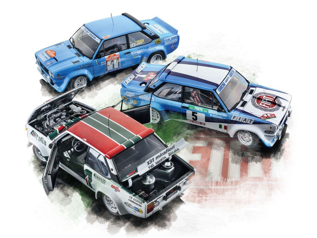 Fiat 131 in Topform: unterschiedlich breite Felgen, Renn-Cockpit, Beifahrer-Leselampe, verkabelter Power- Vierzylinder