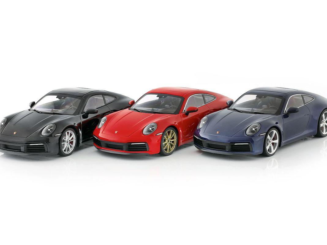 Mit drei gediegenen Sonderfarben, noch dazu streng limitiert, bereichert Minichamps auch die 911er-Palette von CK-Modelcars in 1:18