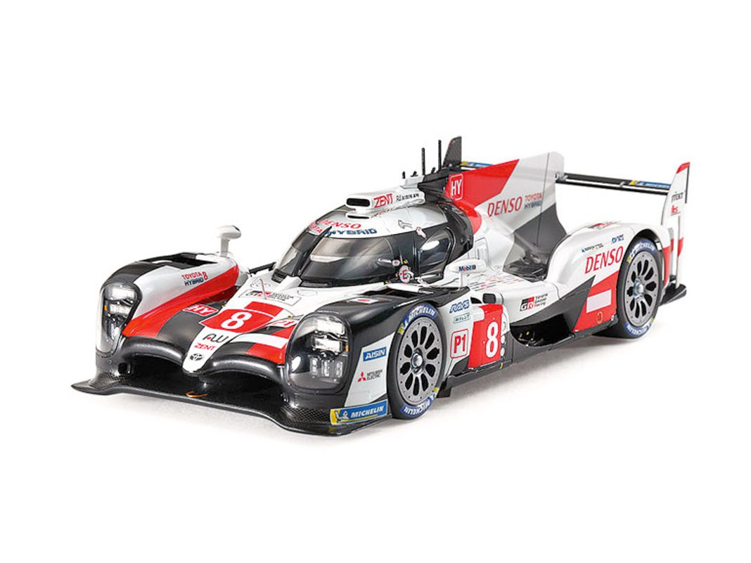 Tamiya liefert den Toyota Gazoo Racing TS050 Hybrid nun auch in der Le-Mans- Siegerversion von 2019 als 1:24er