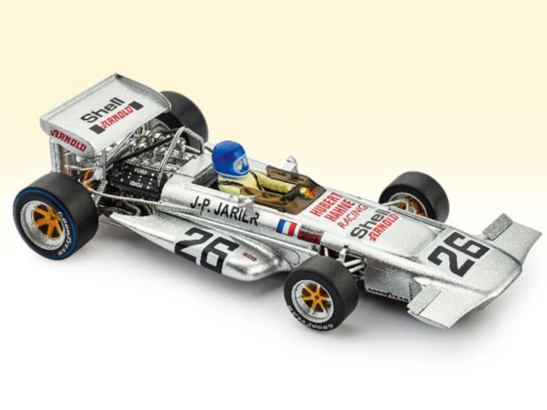 Policar bringt in Silber und mit der Nummer 26 den March 701 vom GP Monza als 1:32-Monoposto