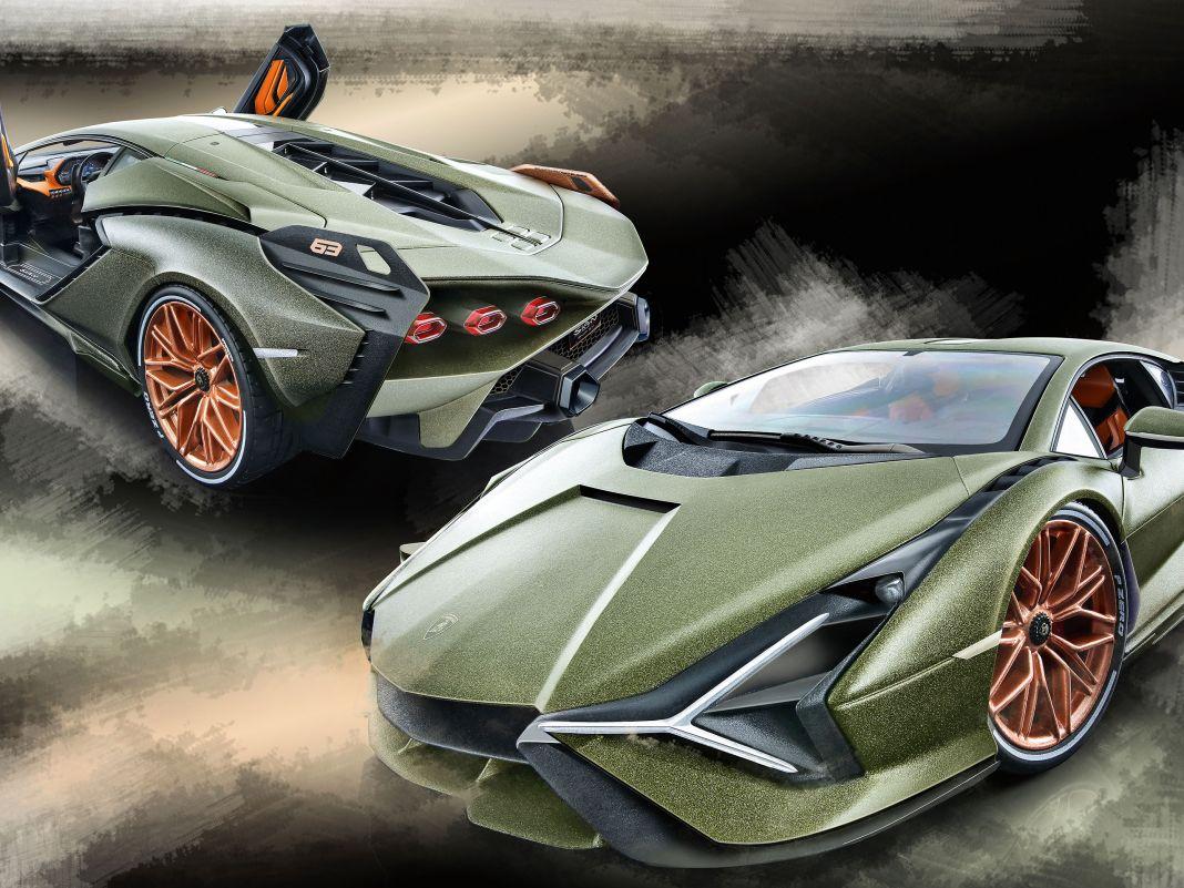 Das Thema Hybridsportwagen kann Lamborghini auf seine Art auf die Spitze treiben, wie der Sián auch als 1:18-Modell von Bburago beweist