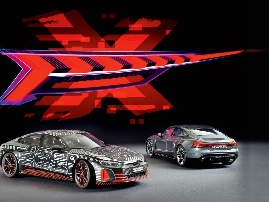 Tolle Rücklicht-Grafik – fantastische Modelle in Daytonagrau und buntem Präsentationstrimm kommen von Norev in 1:18