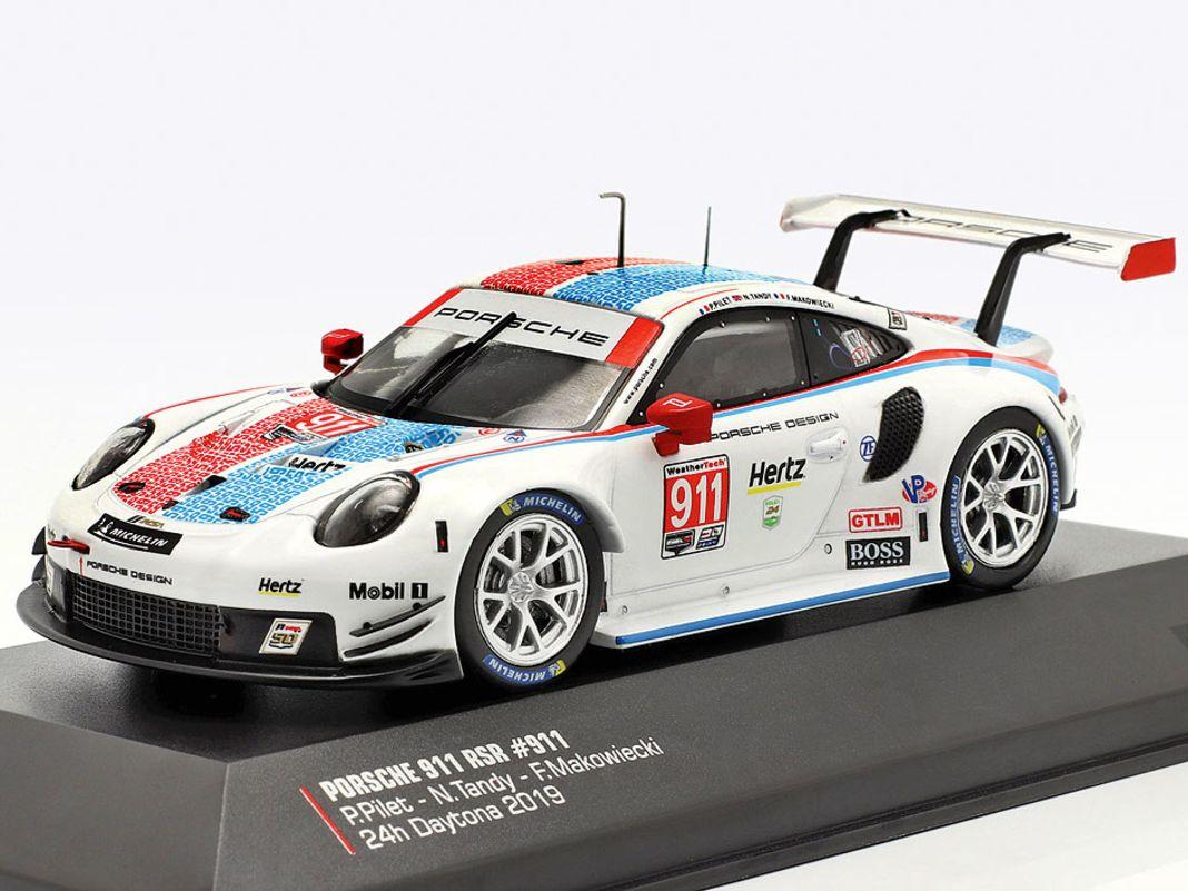 CK-Modelcars widmet sich dem Porsche 911 (991) RSR von 2018 in 1:43 und CMR in der Baugröße 1:18 als geschlossenes Zinkdruckgussmodell