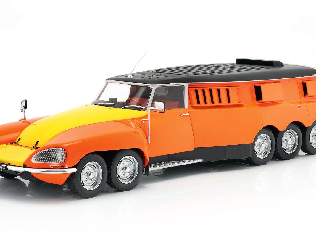 Das elfrädrige Reifentestcar von Michelin auf Basis eines Citroen DS von 1972 bringt CMR jetzt als Zinkdruckgussmodell in der Baugröße 1:18
